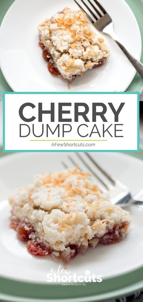 Need a dessert for a pot luck or something that you can make quickly? This Cherry Dump Cake Recipe is so good and so simple to make! Gluten Free Variation available.