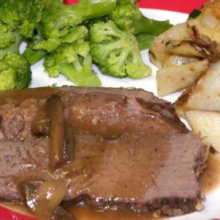 Crock Pot Tip Roast with Mushroom Gravy