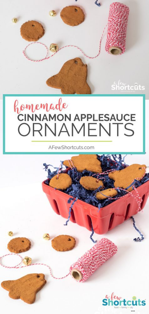 A simple Christmas Craft that you can make with your kids. Check out these Homemade Cinnamon Applesauce Ornaments. They make great gifts!