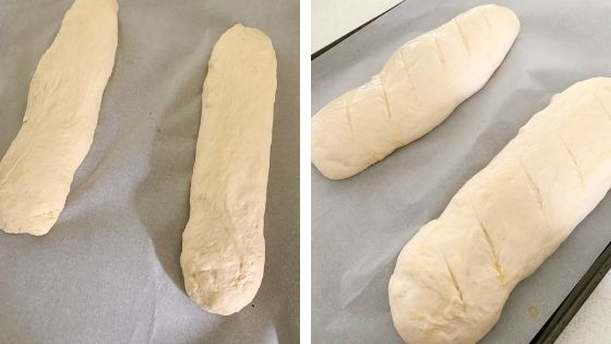 French Bread on pan