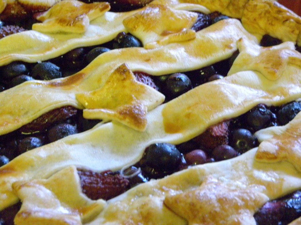 Patriotic Blueberry Pie