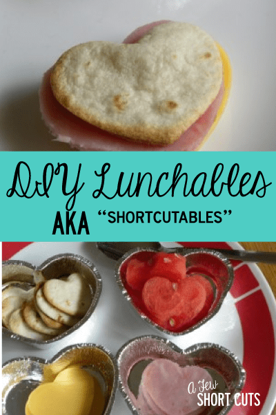 "Save your money and make these DIY Lunchables ""AKA ShortCutables"". Personalize them too! #lunch #school"