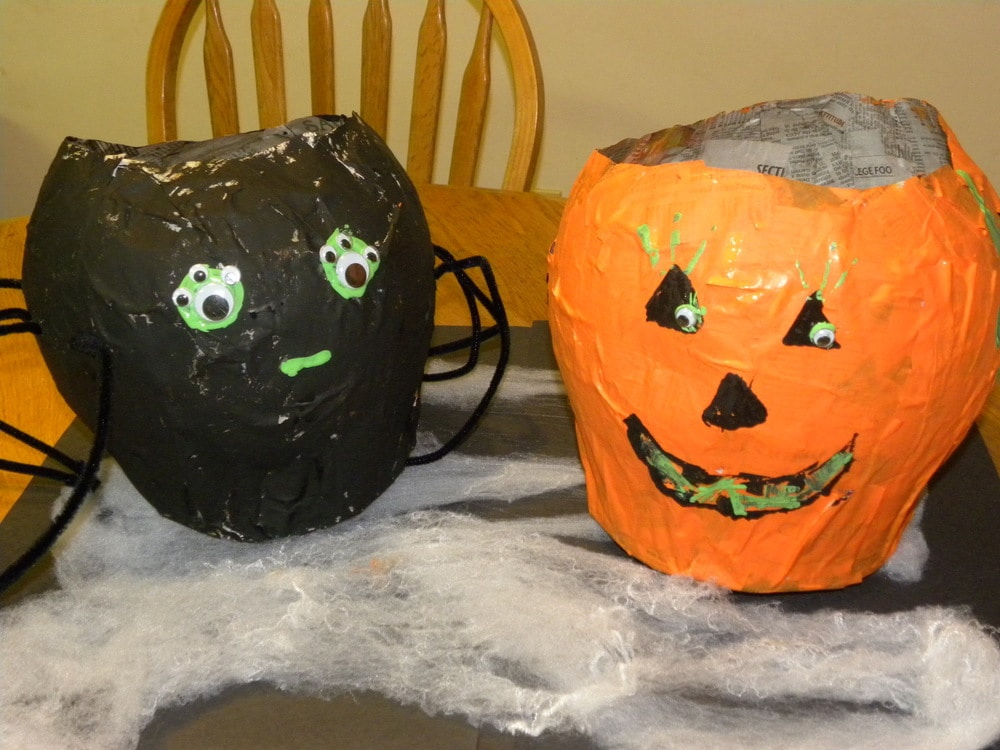 halloween craft paper mache candy bowls a few short cuts