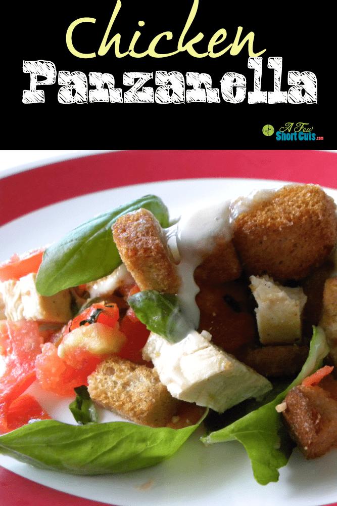 Super summer lunch or light dinner. Chicken Panzenella #recipe