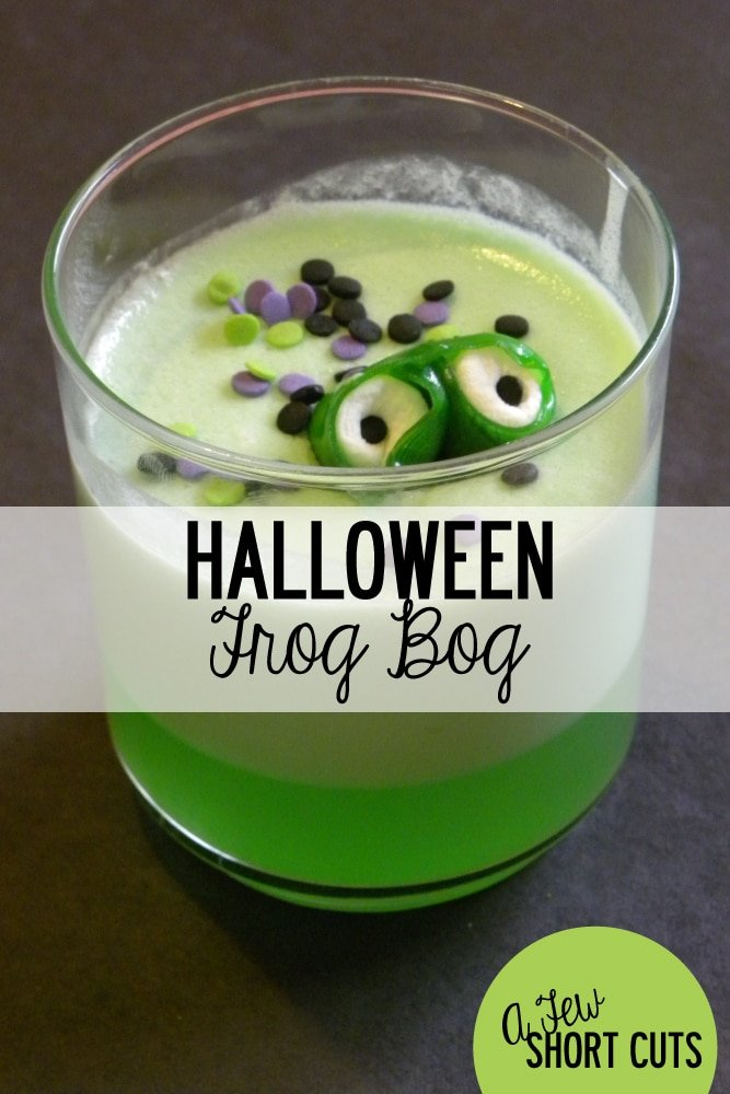 Unique and Fun Halloween Treat!! Check out this Halloween Frog Bog Recipe. Fun for a Mad Scientist Party Too!
