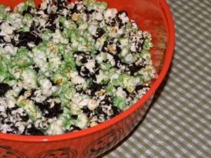 Such a fun and simple way to dress up caramel popcorn for the holidays! Check out this Witches Corn Recipe! The kids will flip over this!