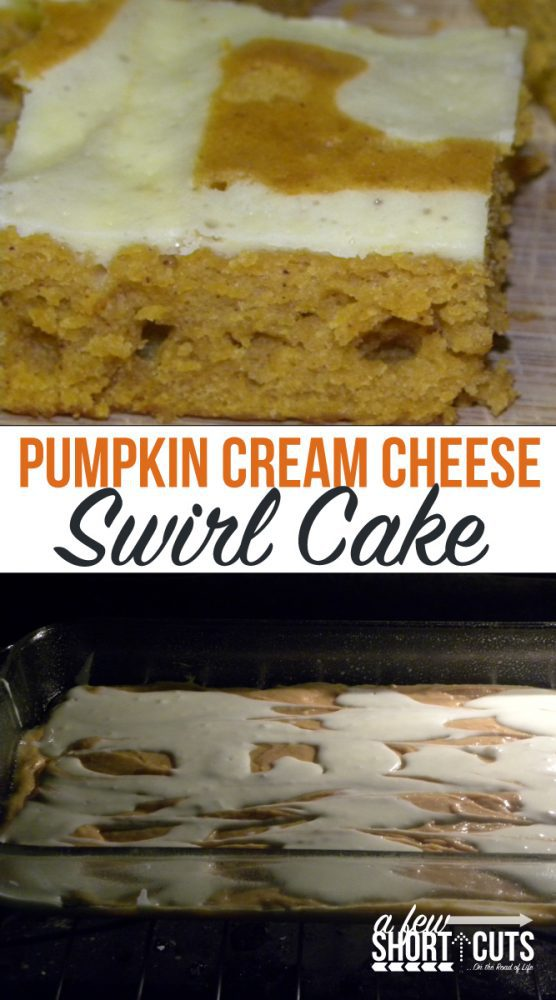 One of my favorite pumpkin desserts! Check out this Pumpkin Cream Cheese Swirl Cake Recipe! So yummy!