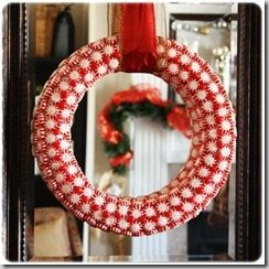 Christmas Craft: Peppermint Wreath