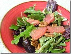 Crockpot Teriyaki Pork Chops & Side Salad with Grapefruit Dressing