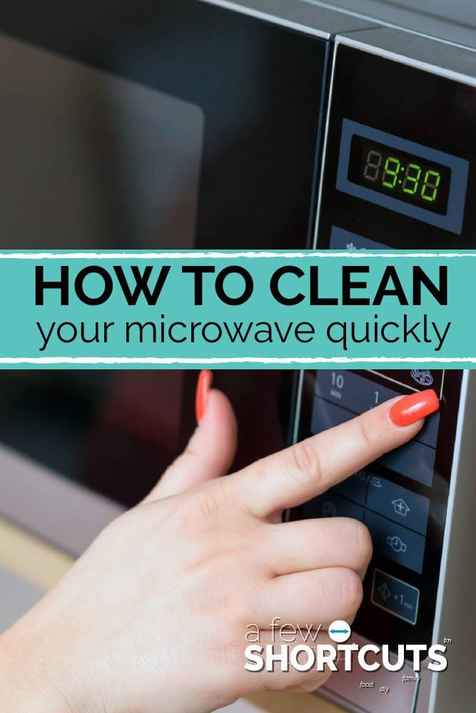 Microwaves are over used and under cleaned! Learn how to clean your microwave quickly and easily with this tip!