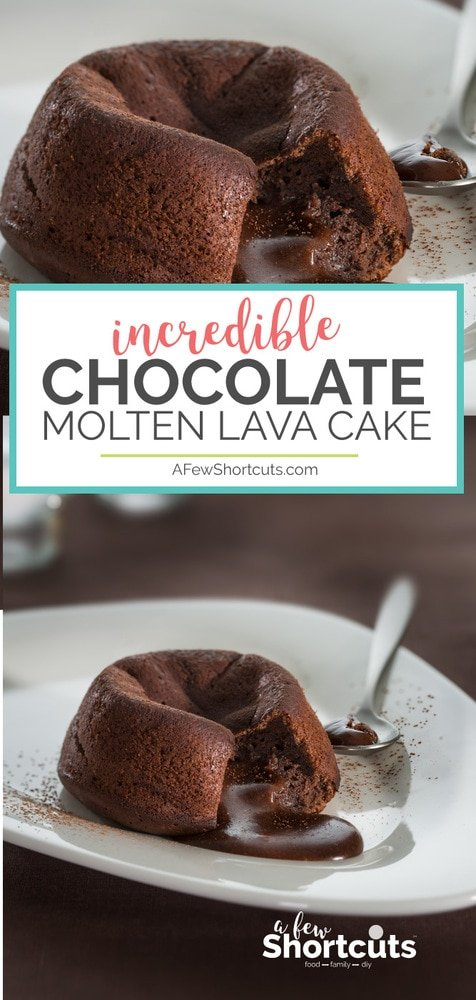 A decadent dessert favorite for a special occasion or just because! This Chocolate Molten Lava Cake Recipe is a chocoholics dream!