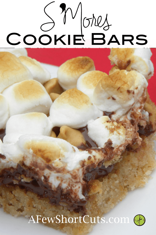 Perfect summer treat! S'mores Cookie Bars #recipe