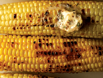 Grilled Corn with Flavored Butters