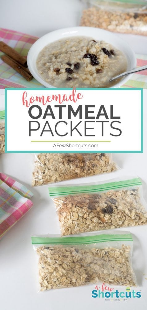 Choose the flavors you love and make your own Homemade Oatmeal Packets. Great if you have food restrictions like gluten free and dairy free!