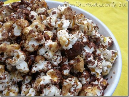 Move over movie night! This Chocolate Peanut Butter Popcorn Recipe is sure to be the star of the show! Be careful! It's addictive