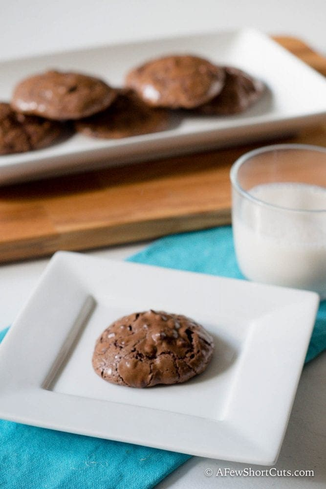 Fudge cookie on a plate