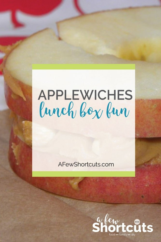 A creative way to change up that lunchbox. Try these healthy Applewiches! The kids will love how fun this recipe is. Great for Back to School
