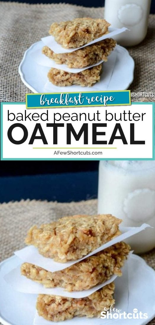 Looking for an easy breakfast, the whole family will love. You need to try this yummy Baked Peanut Butter Oatmeal Recipe. Enjoy it as a snack or breakfast.