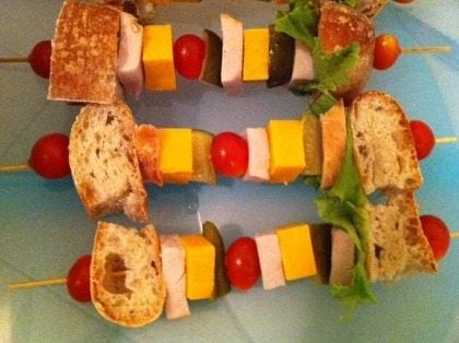 LunchBox Ideas: Lunch on a Stick