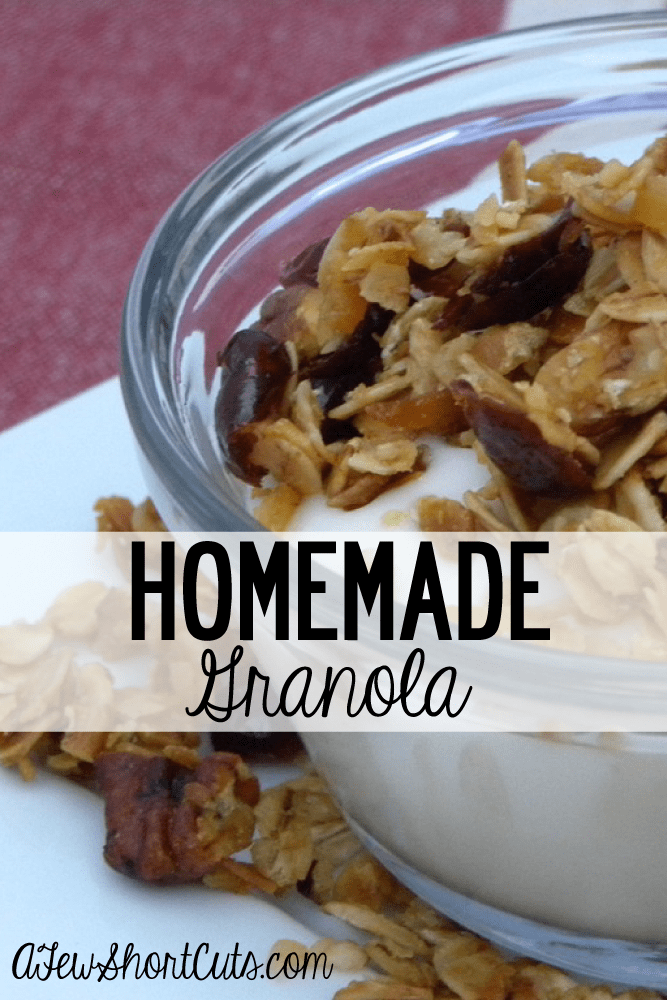 Super delicious Custom Homemade Granola Recipe. Add the things you love!