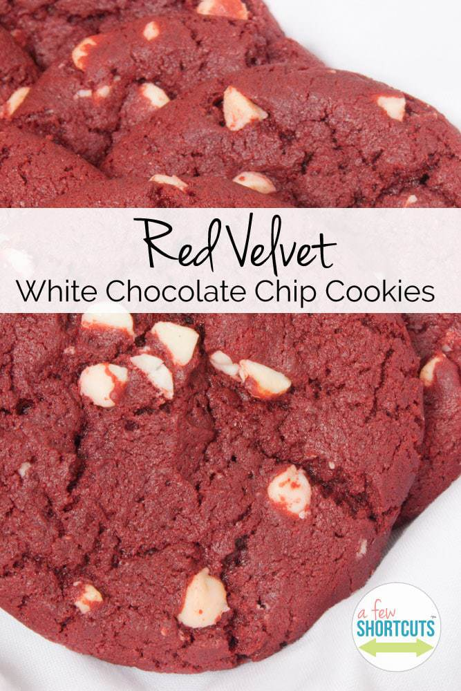 DELICIOUS Red Velvet White Chocolate Chip Cookies Recipe