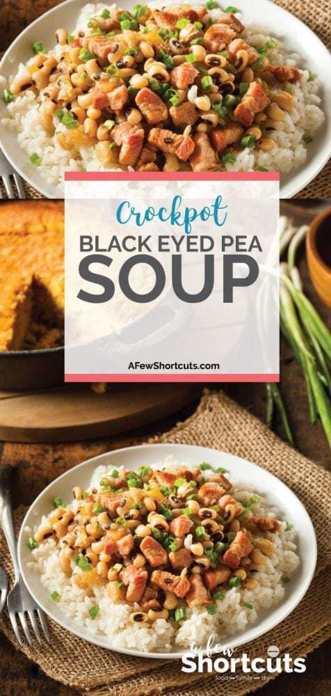 Perfect for winter & New Years, this Crockpot Black Eyed Pea Soup recipe is easy and full of flavor. Ideal for a bowl of rice or by itself.