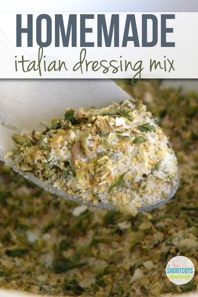 No more store bought! Make your own Homemade Italian Dressing Mix for pennies! Great recipe to keep on hand.