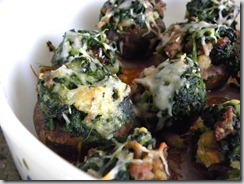 A great holiday appetizer recipe! Check out these simple Spinach & Sausage Stuffed Mushrooms! They are a perfect addition to any get-together! Keto and low carb.