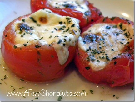A great #appetizer recipe for a romantic night in. Try these easy to make Stuffed Caprese Tomatoes. Delicious and low carb