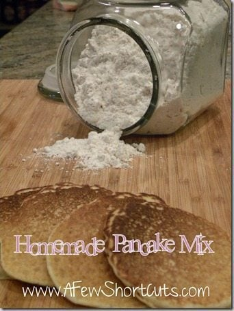 Try this easy homemade pancake mix recipe that can be made gluten free, for great pancakes & biscuits everytime!
