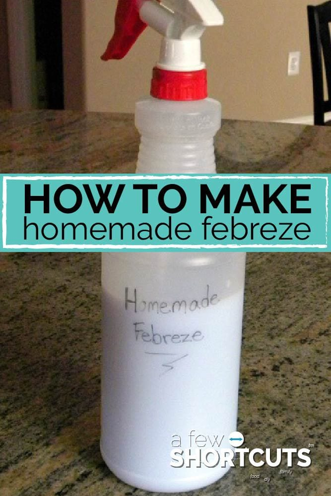 Freshen up your house without going to the store! Learn how to make Homemade Febreze with items you should already have on hand.