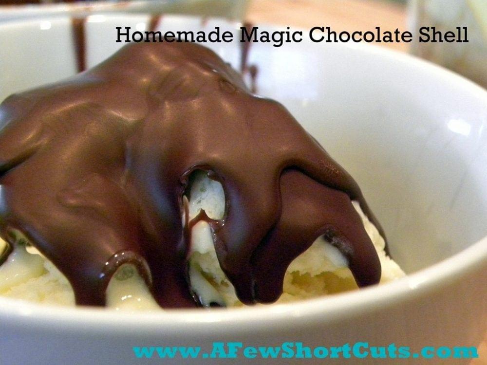 Homemade Magic Chocolate Shell — A Few Shortcuts