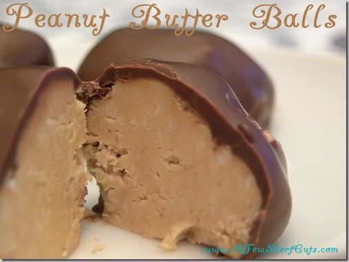 Think peanut butter cup but better! This simple to make Peanut Butter Balls Recipe is a simple to make treat that is perfect for gift giving!