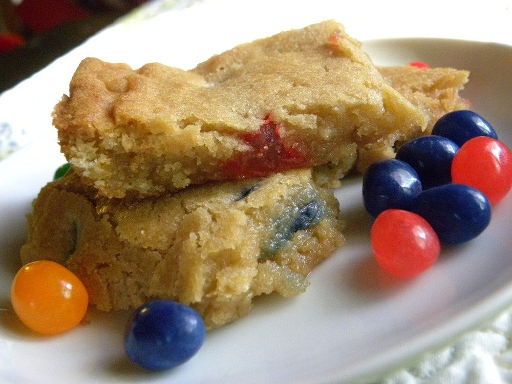 Jelly Bean Blondies
