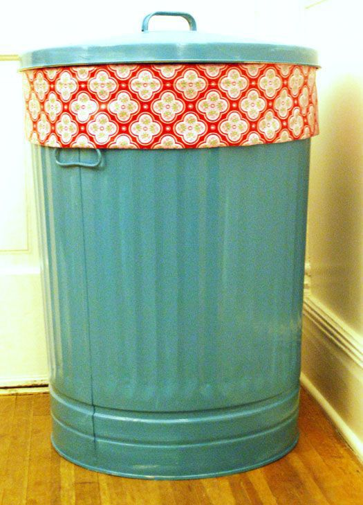 Pinterest Pin Of The Day 4 2 Painted Amp Lined Trash Can