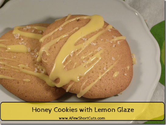 Honey Cookies with Lemon Glaze - A Few Shortcuts