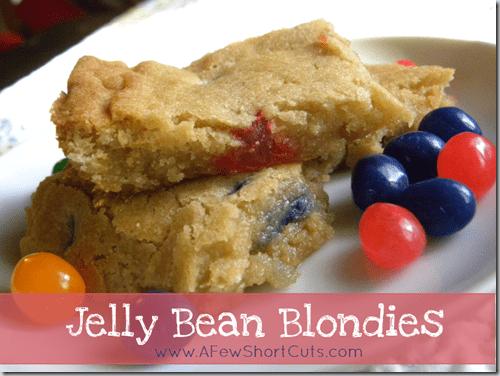 jelly bean blondies