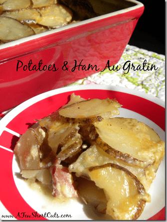 potatoes and ham au gratin