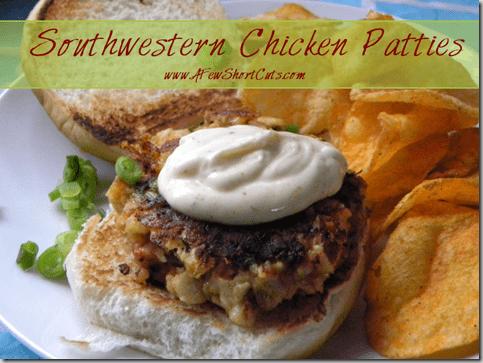 southwestern chicken patties