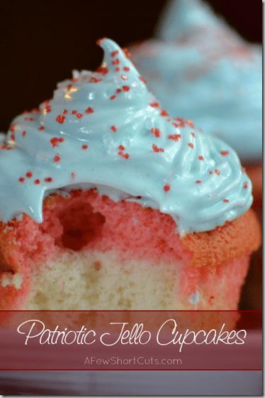 patriotic jello cupcakes