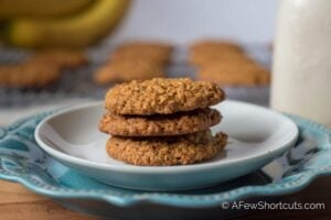 Cookies for breakfast? Yes!!! Try this Peanut Butter Banana Breakfast Cookies Recipe! They are perfect anytime of day and can be made gluten free!