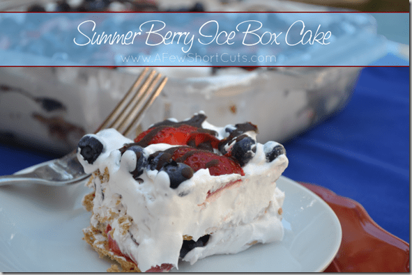 A no-bake summer treat. Try this Summer Berry IceBox Cake Recipe for your next get together. It is light, creamy and simply delicious!