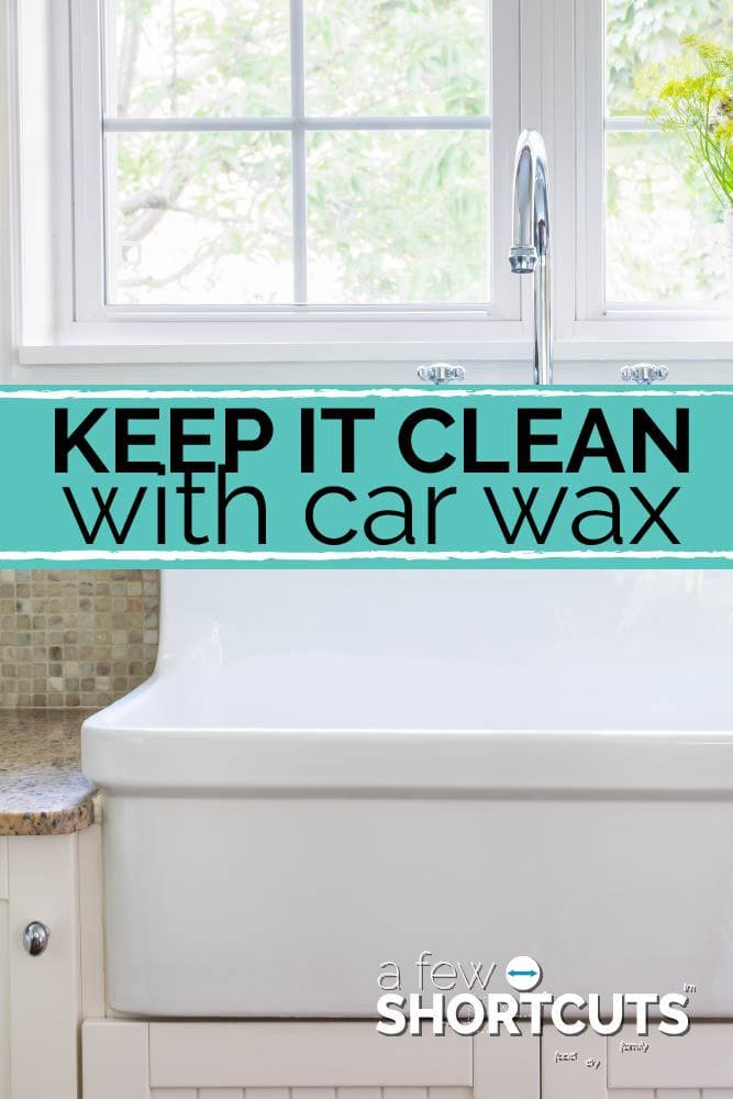 Stop over cleaning! Check out this tip! Keep the sink and stove clean with car wax!