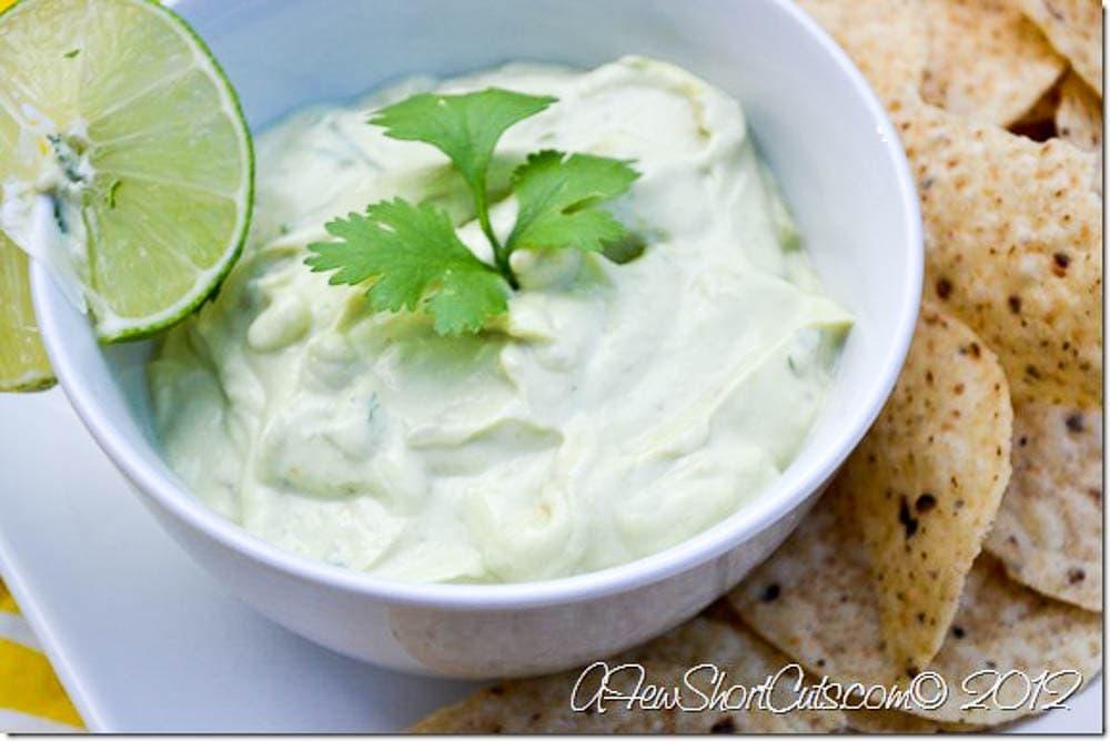 Skinny Creamy Avocado Dip - A Few Shortcuts