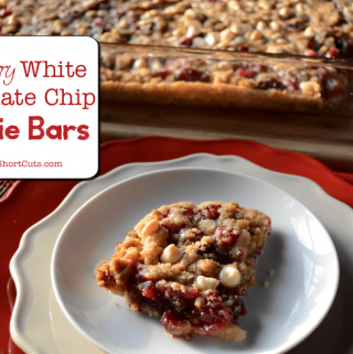 Cranberry White Chocolate Chip Cookie Bars