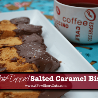 Chocolate Dipped Salted Caramel Biscotti