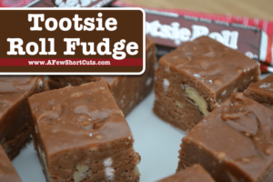 Use a classic candy favorite to create an even more amazing treat! Try this Tootsie Roll fudge recipe! You won't regret it!