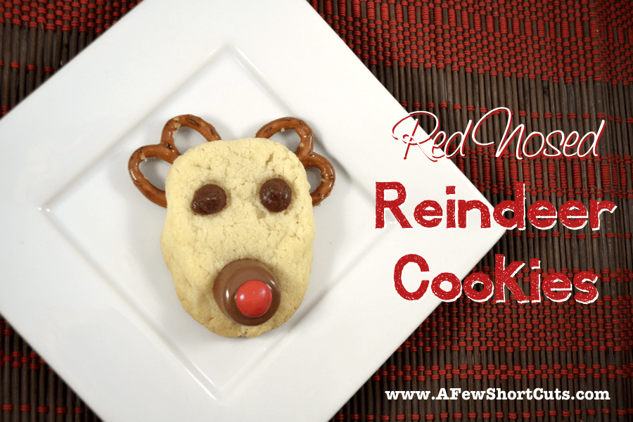 red nosed reineer cookies