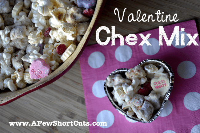 "Say, ""I love you!"" with a batch of this delicious Valentine Chex Mix! Snag the recipe and make it for your sweetheart today! 