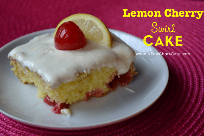 Lemon Cherry Swirl Cake